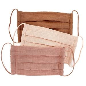 Face Masks 100 cotton +Muslin+Travel+Breathable